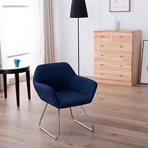 Moderner Designer Wohnzimmer Esszimmerstuhl Relaxstuhl Loungesessel Stuhl  Sessel Blau, Farbe:Blau Jetzt Bestellen Unter