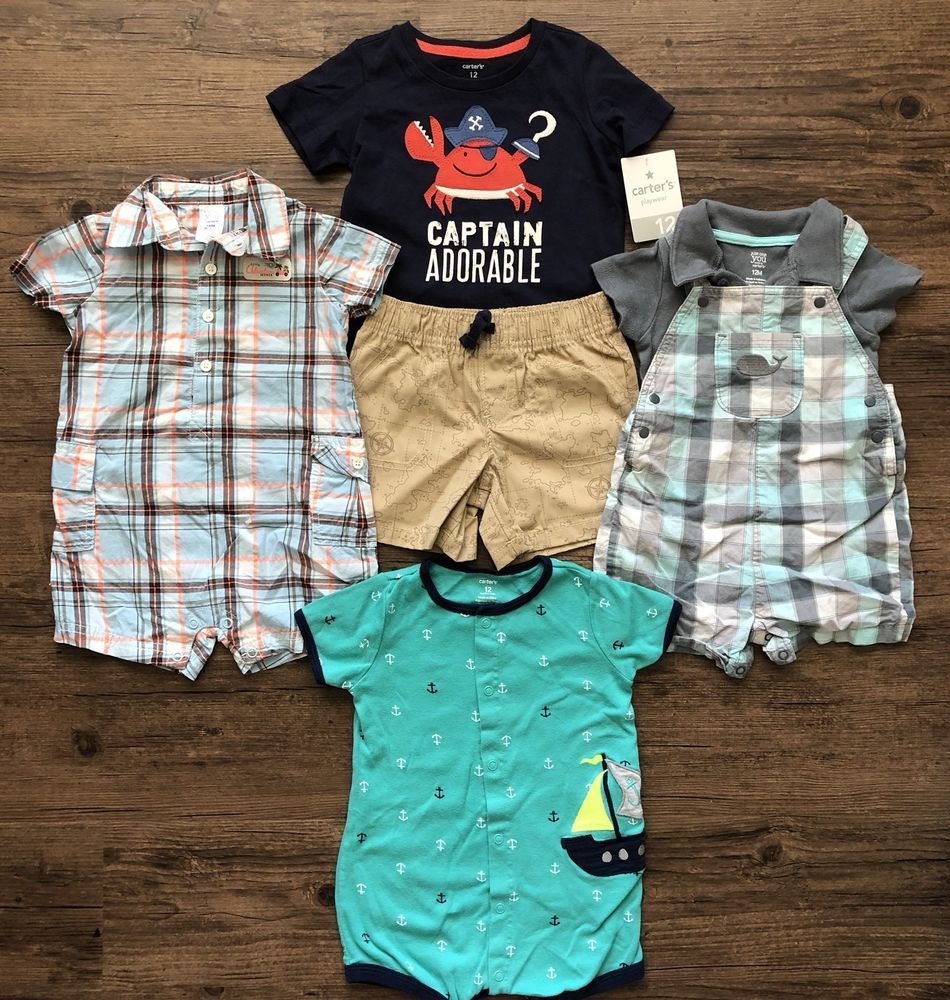 dd9ee1a4e Baby Boy 12 Months Rompers One Piece Outfits Spring Summer Clothes ...