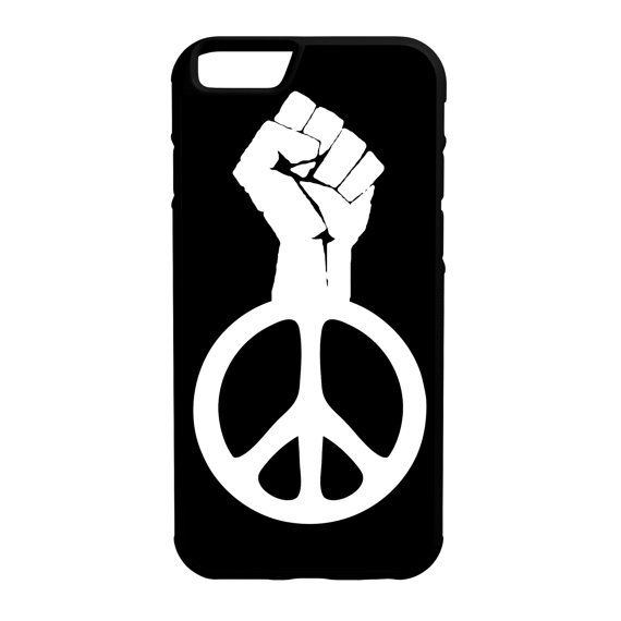 Raised Fist Peace Symbol Iphone Galaxy Note Lg Htc Protective Hybrid