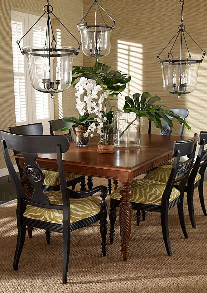 Cloches Ethan Allen Tropical Dining Room Colonial Dining Room