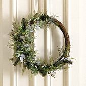 Photo of Frosted Winter Christmas Wreath
