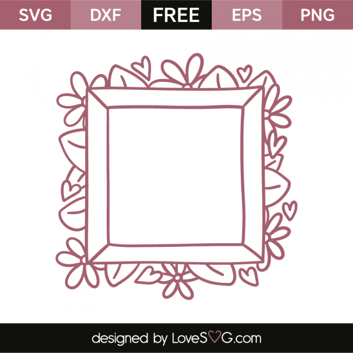 FREE SVG CUT FILE for Cricut, Silhouette and more ***Flourish frame ...