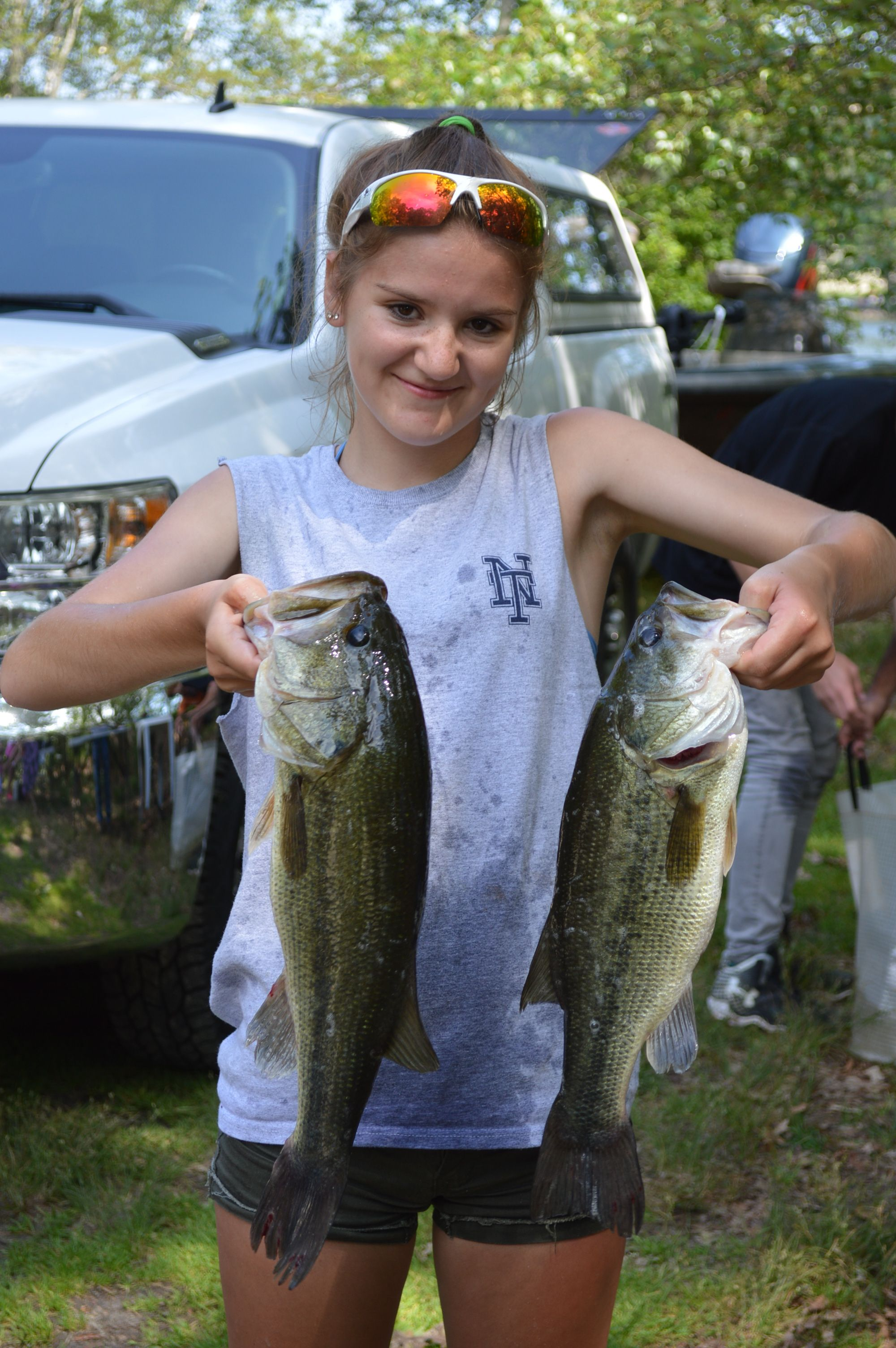 My sister & her Team mate placed 4th at the RI Bass High