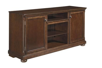 Porter Rustic Brown Wood LG Tv Stand