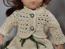 Jacke Gehäkelt Für 40 Cm Puppe Puppenkleider Gestrickt Pinterest
