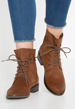 Marco Tozzi - Lace-up boots - cognac