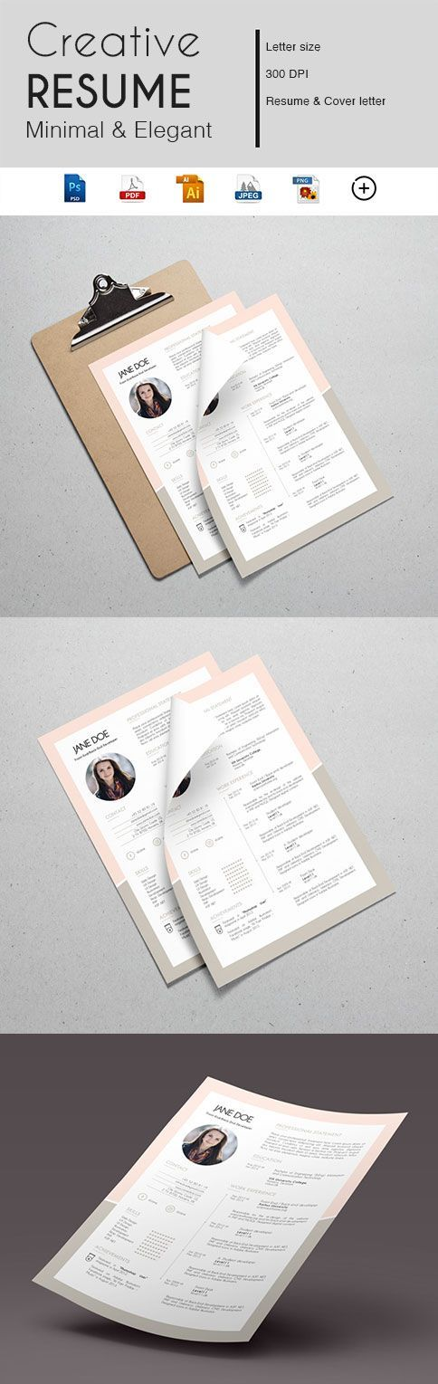 Teacher Resume Simple CV 1 Page Resume Minimalist Resume - resume 1 page