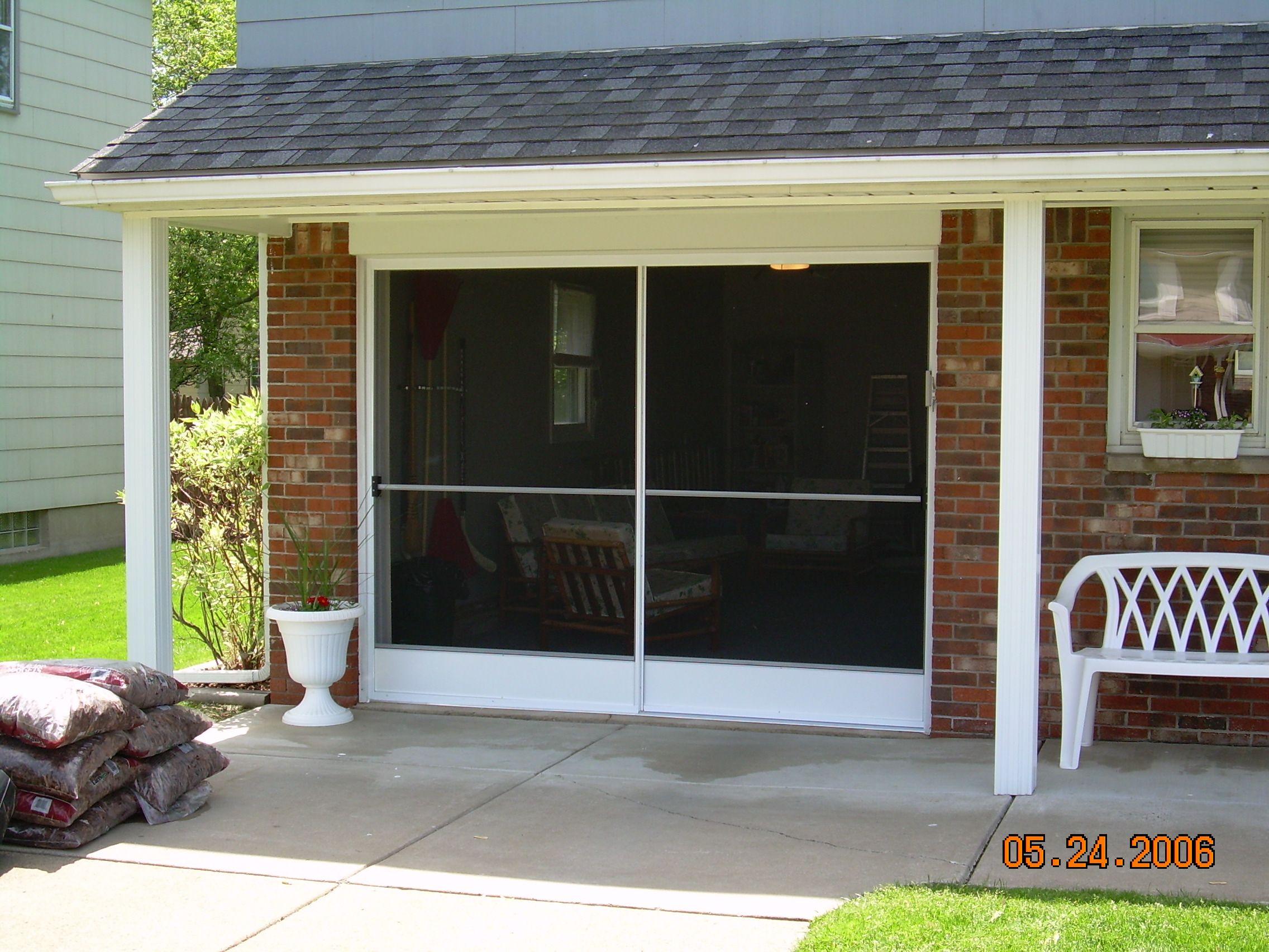 Garage Screenes Garage Screen Door Patio Enclosure Installation