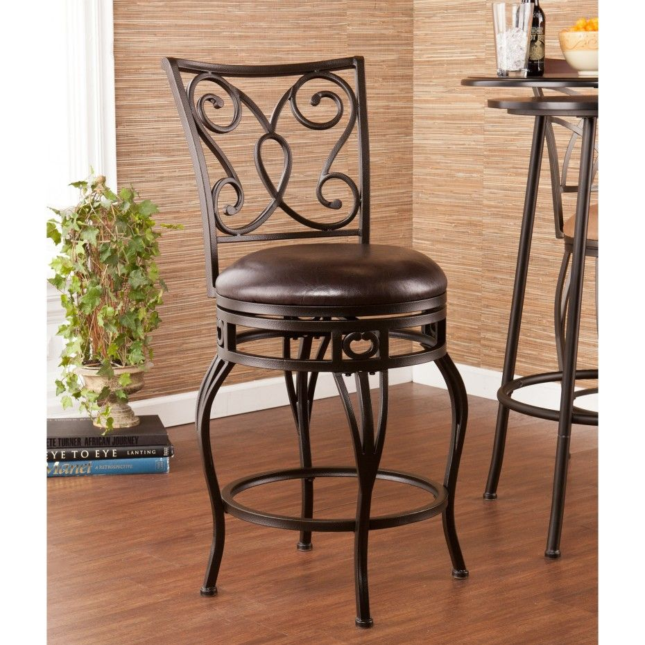 30 Bar Stools Black Wrought Iron Wood Swivel Bar Stools With Carved Back And Round Leather Seat 24 Bar Stools Counter Stools Swivel Counter Stools Swivel Stool