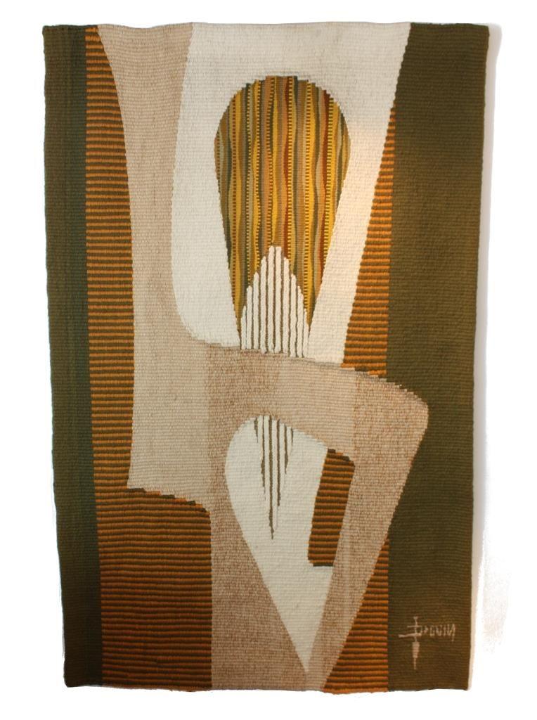Galerie Alexandre Guillemain Artefact Design Daniel Drouin Tapisserie France Vers 1970 Tapisserie Tenture Peinture Decorative