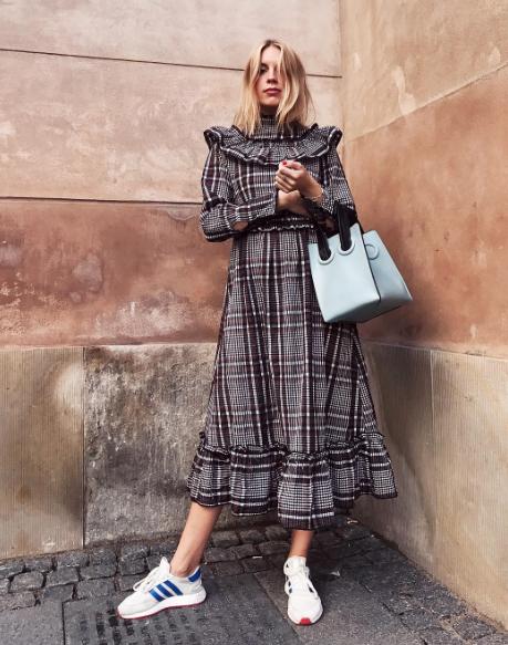 e7d646eb052 Ganni street style | Hanna Stefansson | Charron Dress | Fall ...