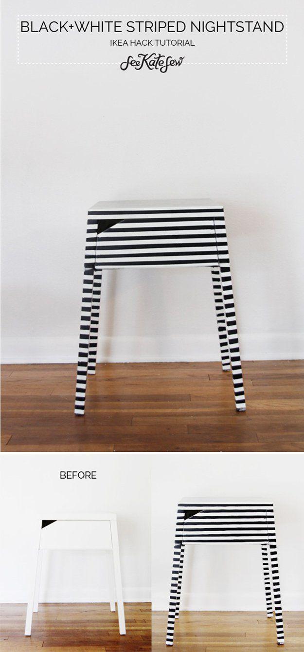 Diy ikea sewing table  Cheap Nightstands  Ikea nightstand Nightstands and Diy nightstand
