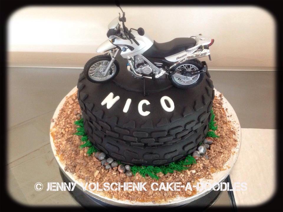 Motorbike birthday cake Jenny Volschenk Birthday cake