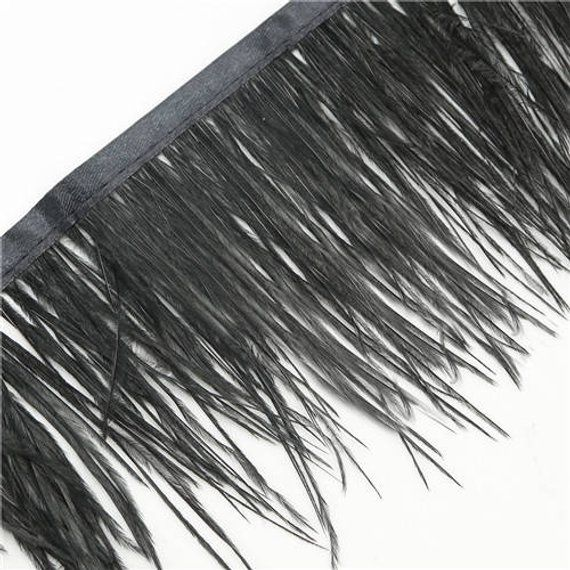 Wholesale 1Yard Ostrich Feather Satin Ribbon Trimming Fringe 10-15cm//4-6inch