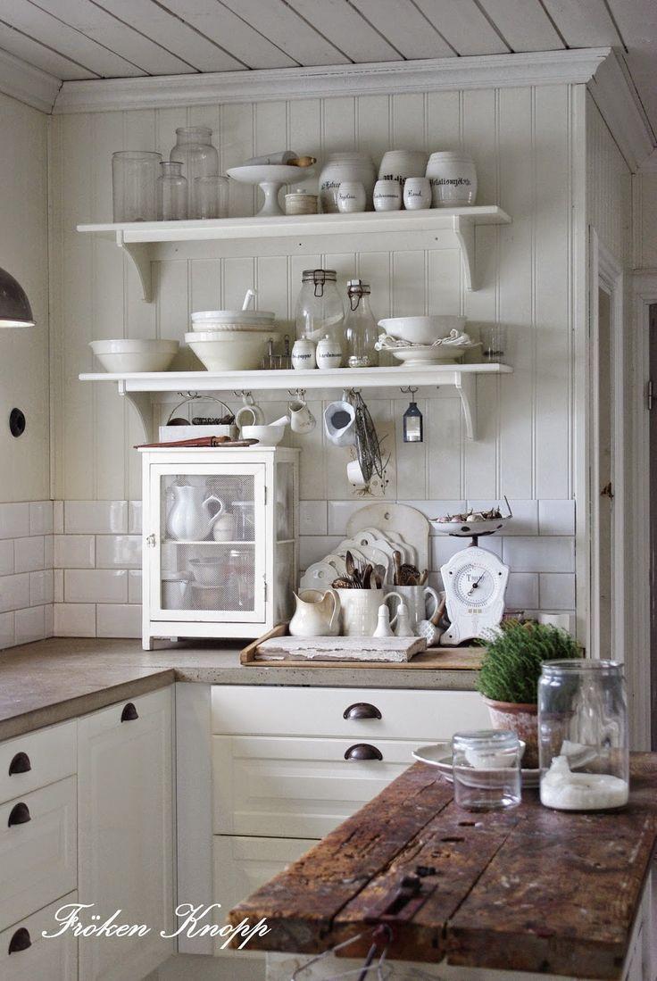 Open Shelving | French Farmhouse Style | Pinterest | Küche ...