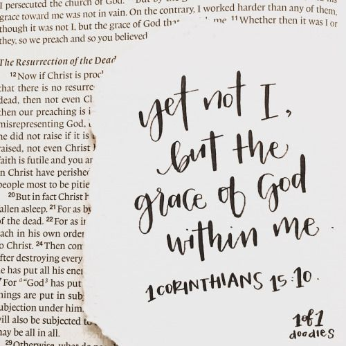 Not I but the grace of God in me