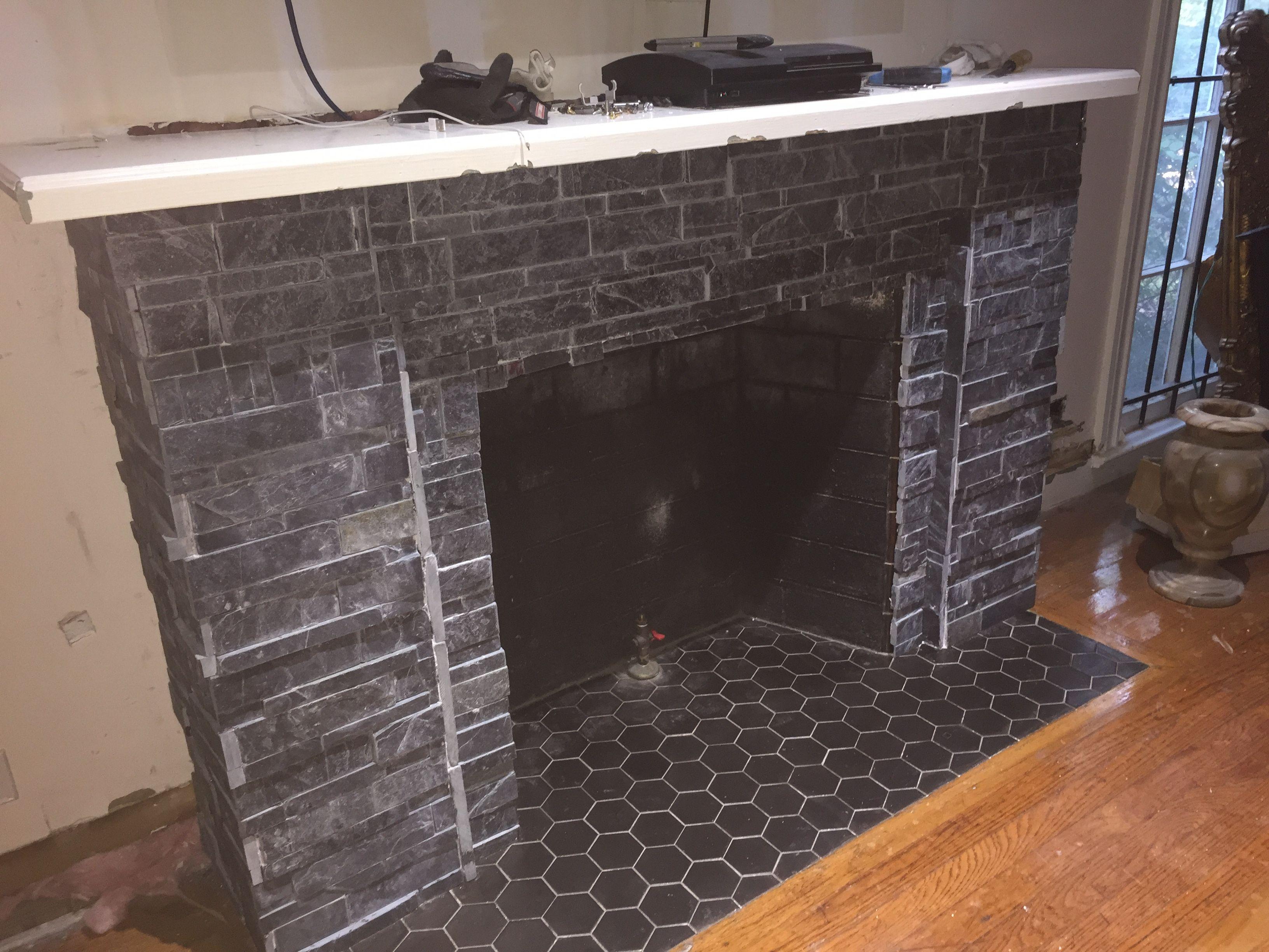 updated fireplace renovation quickcrafter best of diy pinterest