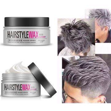 Bioaoua Silver Grey Disposable Men Hair Style Wax Mud Dye Cream Is Healthy Newchic Mobile Silver Hair Color Hair Wax Diy Hair Dye