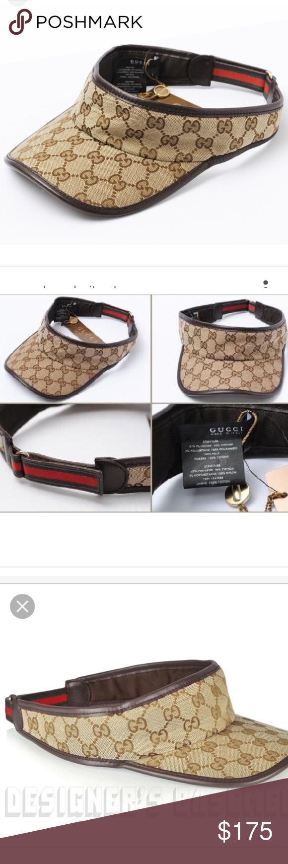 1a541608e4a Gucci visor cap New   authentic M Brand new Gucci visor