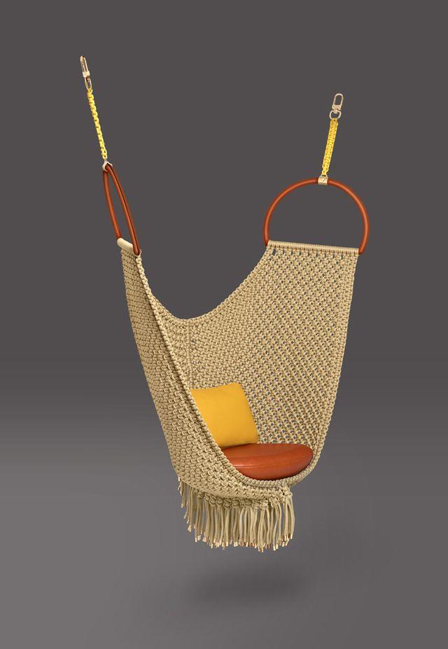 Swing Chair Patricia Urquiola Restaurant High Cover Louis Vuitton Furniture Lighting