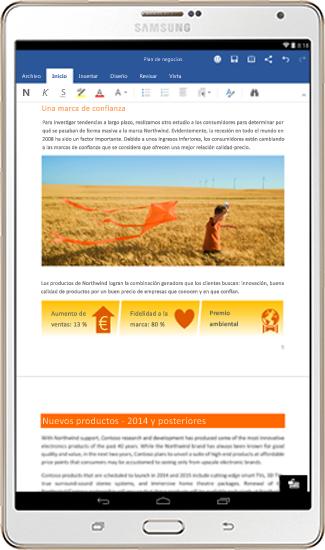 Office en su tableta Android