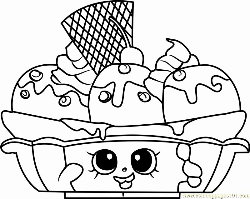 Shopkins Coloring Pages For Kids Elegant Banana Splitty Shopkins Colorin Shopkins Coloring Pages Free Printable Shopkin Coloring Pages Shopkins Colouring Pages