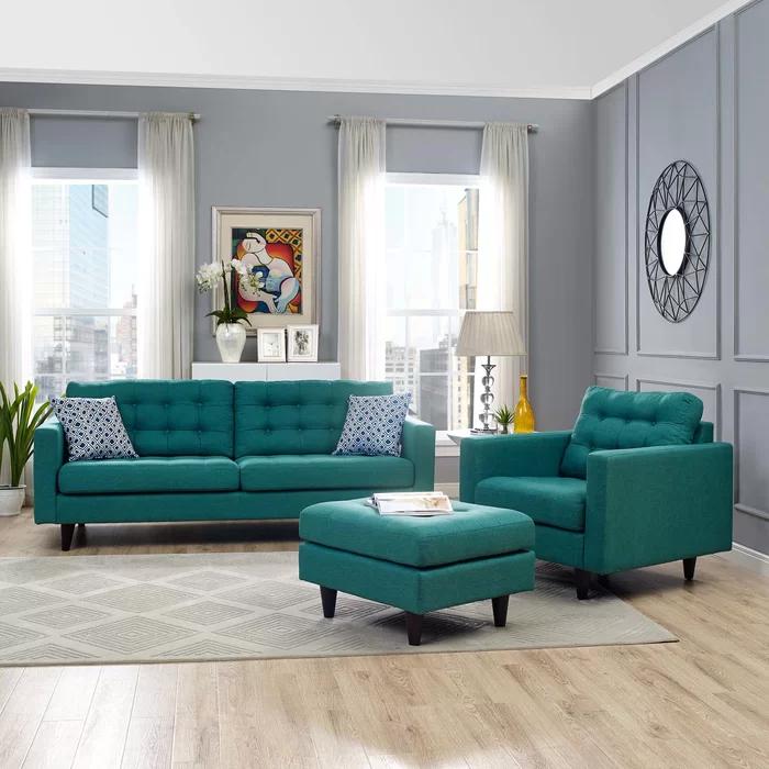 Warren 2 Piece Living Room Set Reviews Allmodern Living Room Decor Apartment Living Room Sets Living Room Turquoise
