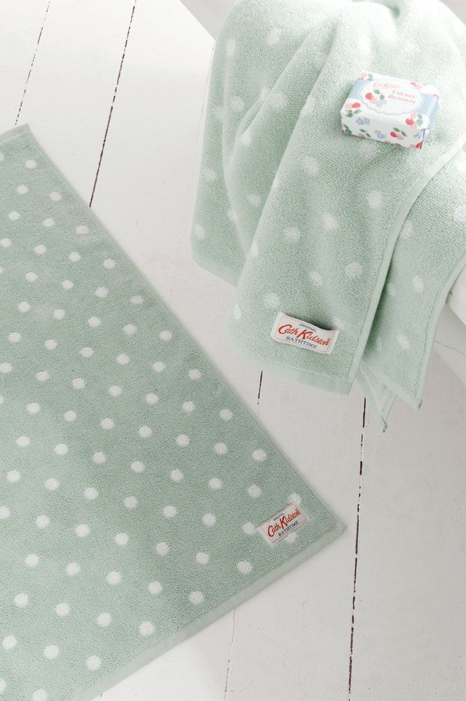 eb86f5f2d563a CATH KIDSTON DUCK EGG BLUE SPOT BATH MAT: Amazon.co.uk: Kitchen ...