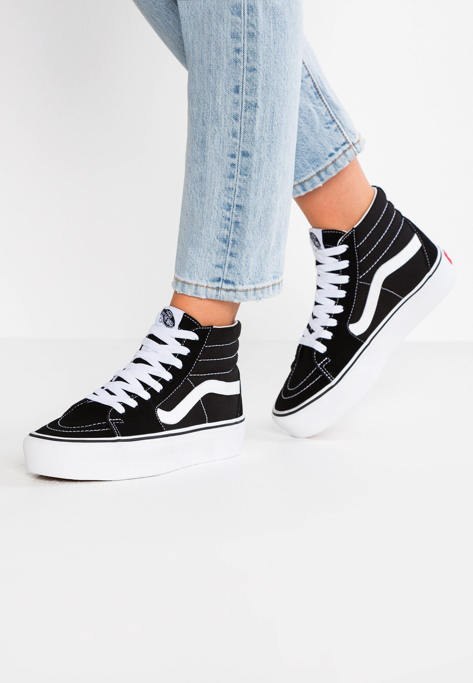 SK8 PLATFORM 2.0 - Baskets montantes - black/true white ...