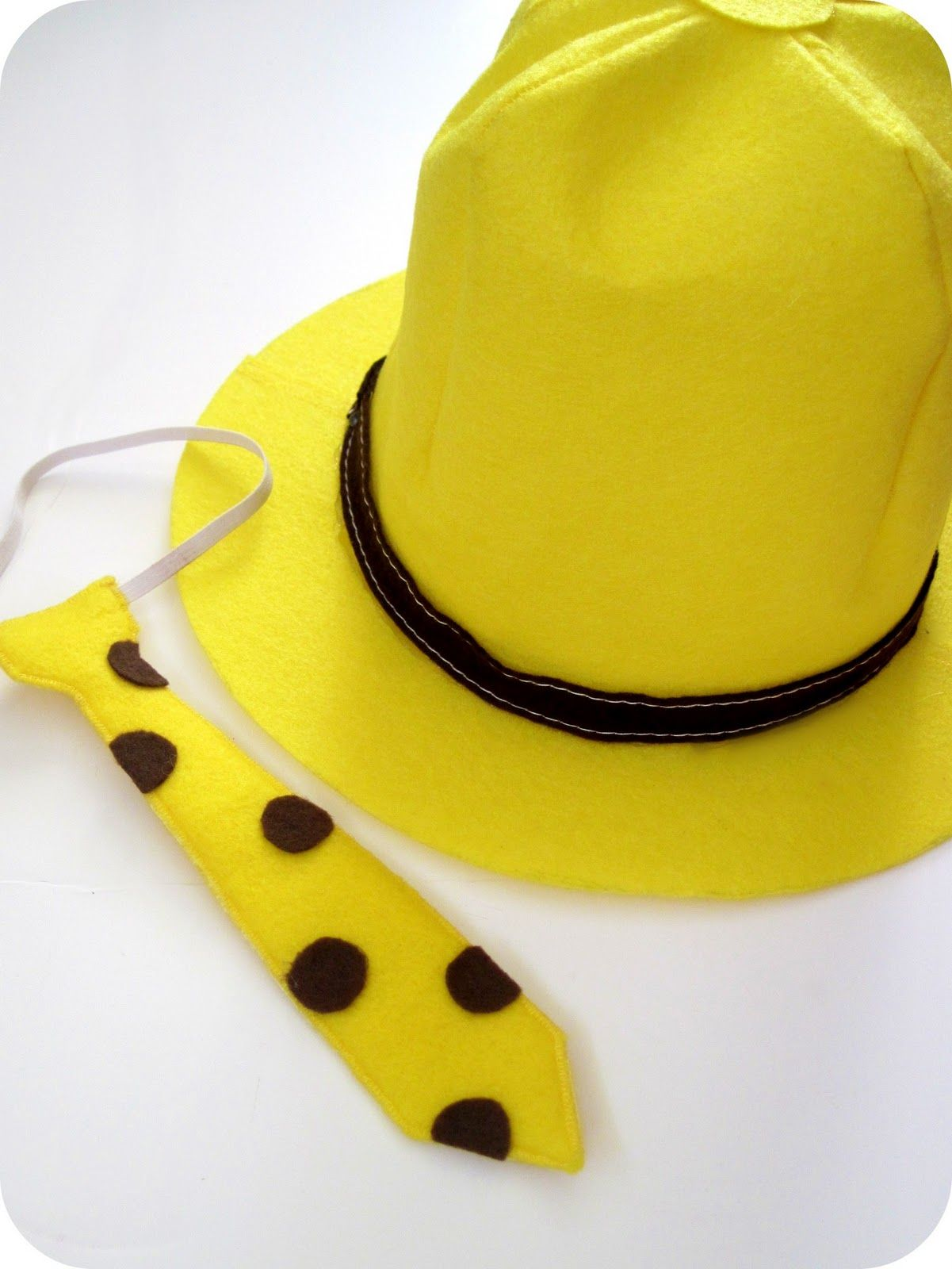 another homemade man in the yellow hat costume