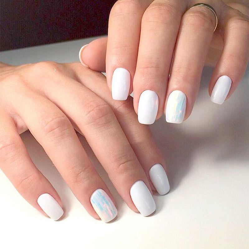 48 Classy White Nail Art You Should Try 2019 Fashion Star White Nail Art White Nails White Nail Designs