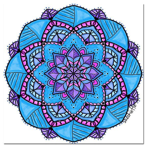 Mandala Blessings Card - Handmade Greeting Card - Blank Card - Just Because Card - 'Joyful Card'