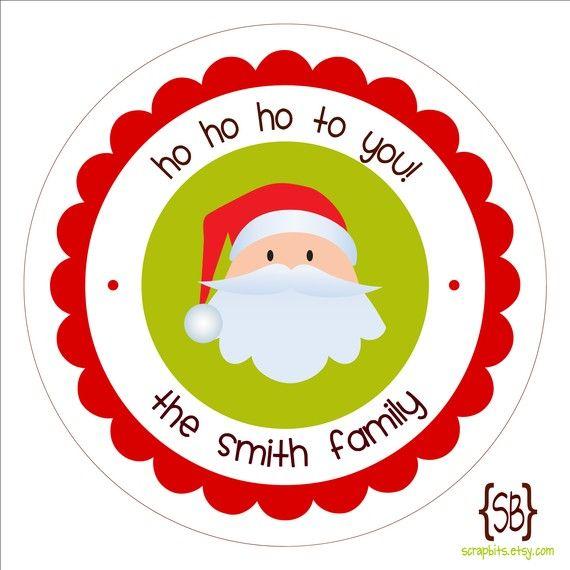 10 Sheets Christmas Santa Stickers Gift Box Decor Envelop Seal Labels