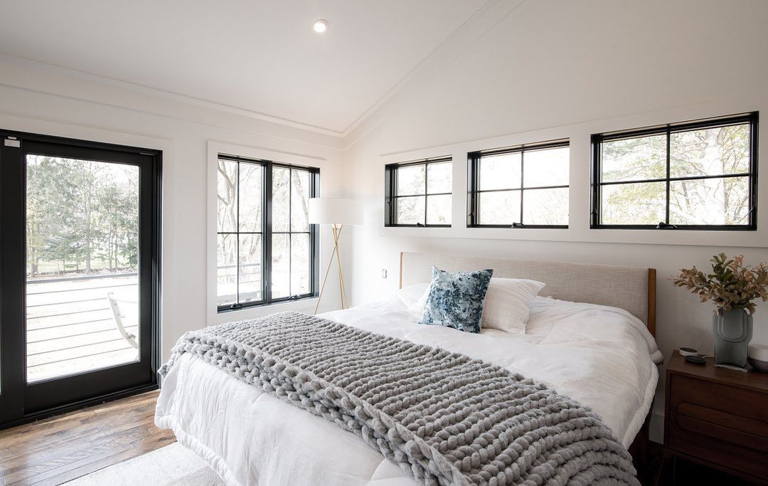 Master Bedroom In This Renovation Project We Placed Clerestory Windows On The Bed Wall Allowing An Ab In 2020 Master Bedroom Windows Home Furniture Interior Design