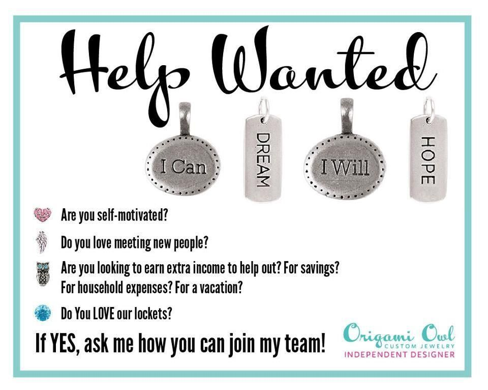 I have truly been enjoying the friendships and opportunities that have come from being an Origami Owl Designer. Join my team