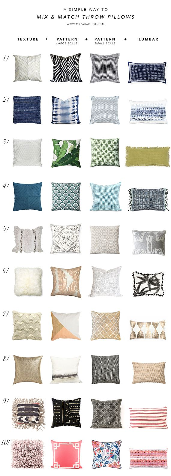 A Simple Way To Mix And Match Throw Pillows