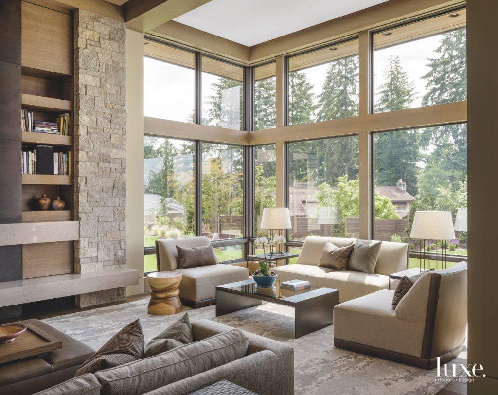 Floor to ceiling windows with lots of light are always a great idea