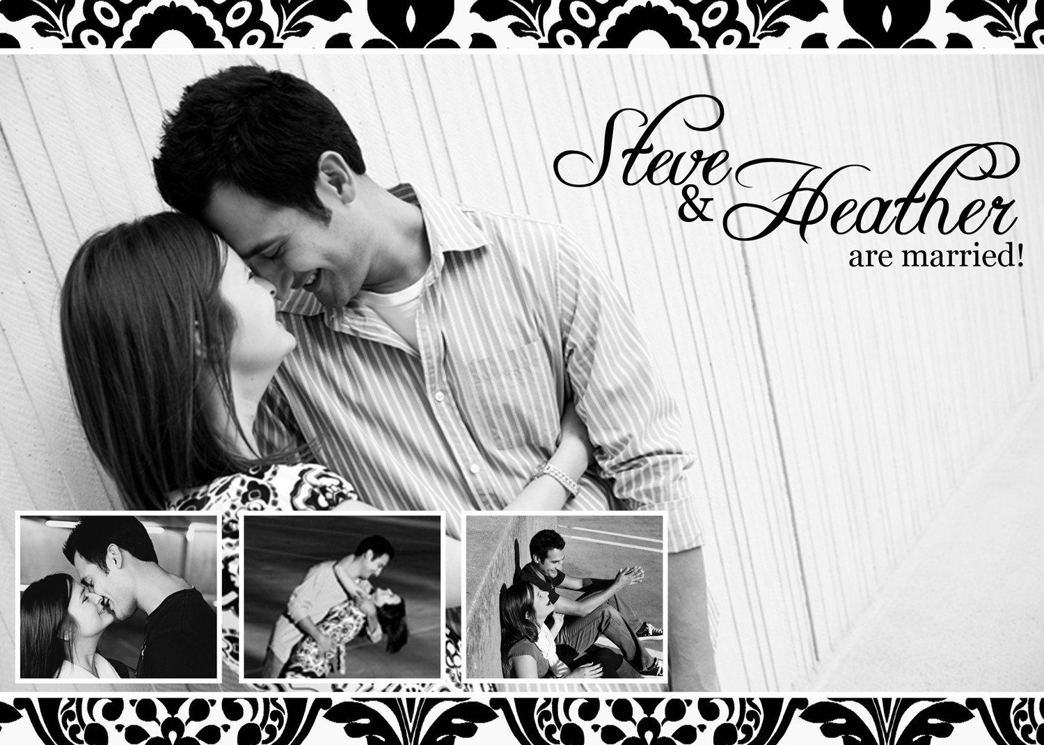 5x7 Save the Date, Wedding, Engagement Photoshop PSD Photo Card ...