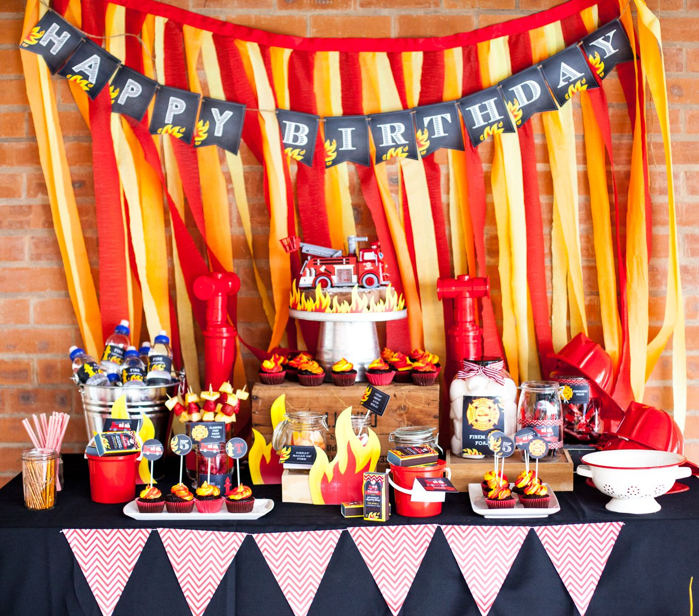 Real Party Submissions Fireman Theme Fire Fighter Birthday Party Fire Man Birthday Party Firefighter Birthday