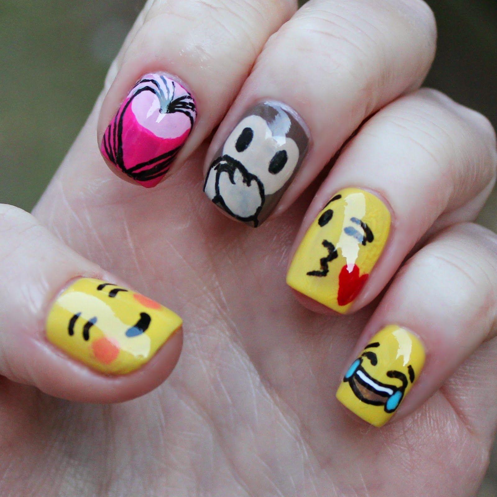 Emoji Nails for Beauty At Tesco   Nails designs   Pinterest