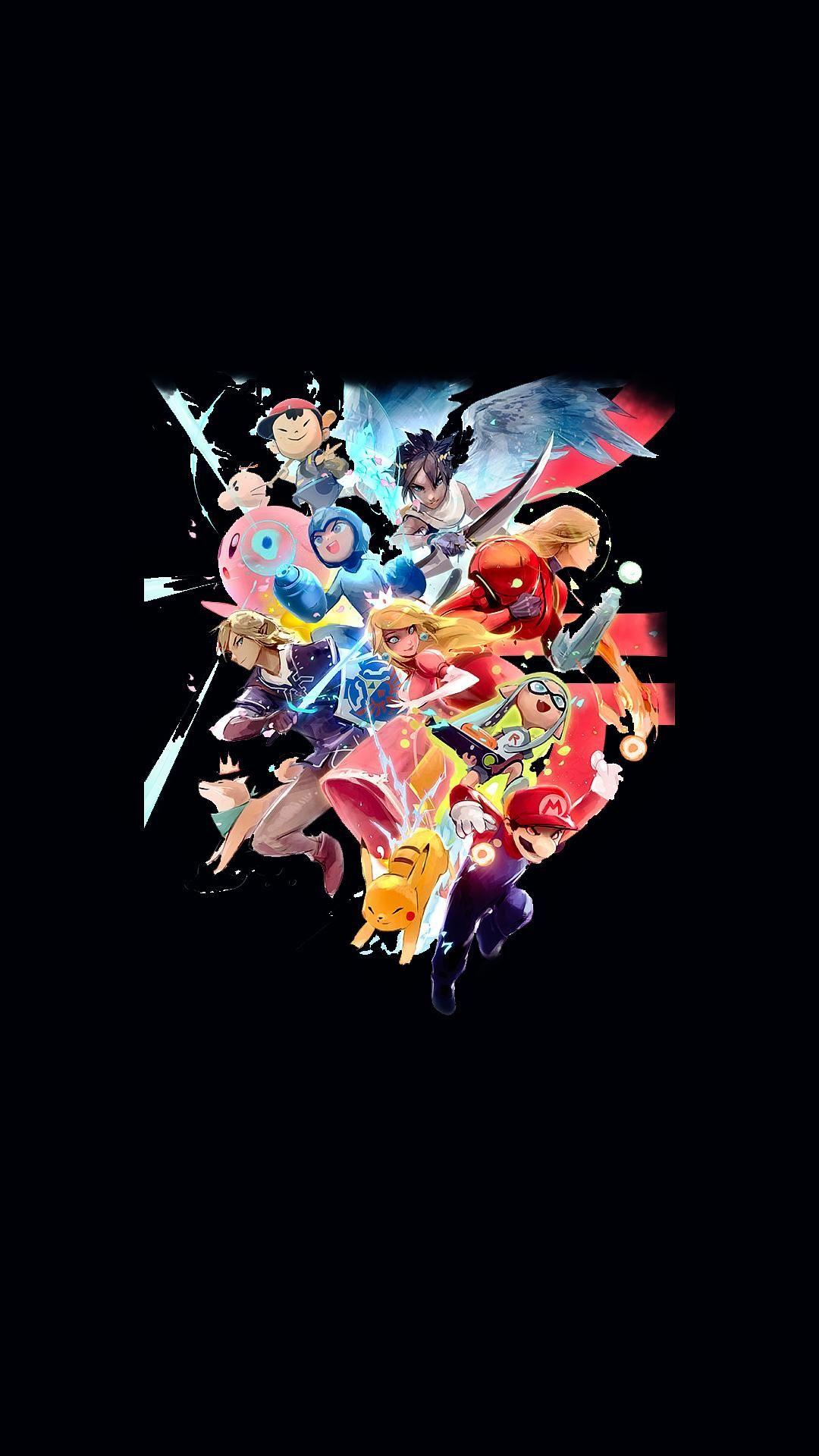 Smash Bros Android phone wallpaper, Phone wallpaper