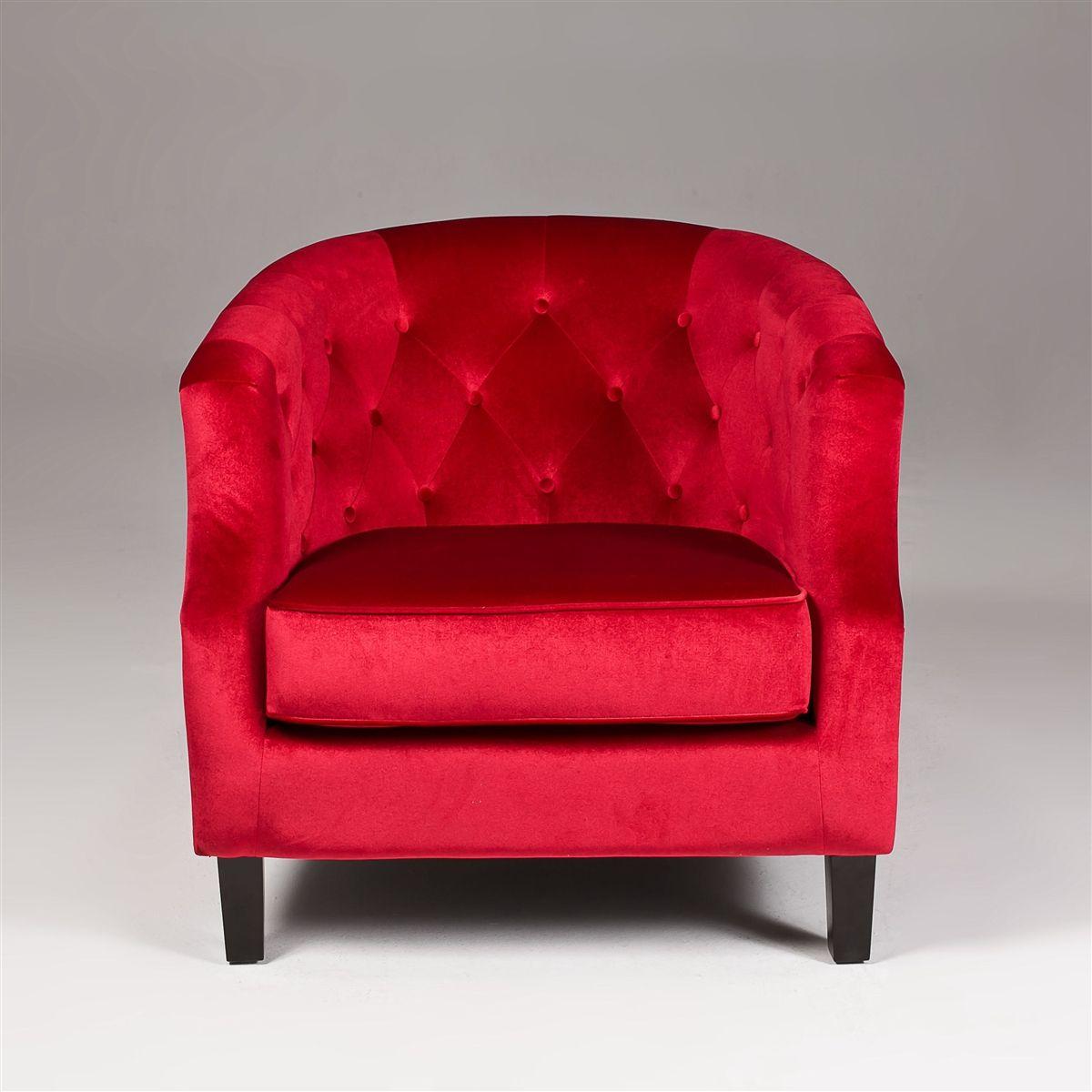 Red Velvet Sofa Red Accent Chair Velvet Accent Chair Red