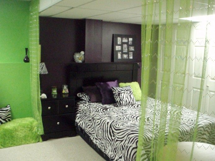 using purple plummet by sherwin williams and lime greenneon green outrageous by sherwin williams with a dash of zebra print and black furniture black white zebra bedrooms