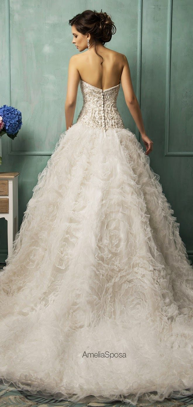 Dramatic wedding dresses  dramatic ruffles  Dresses  Pinterest  Wedding Wedding dress and