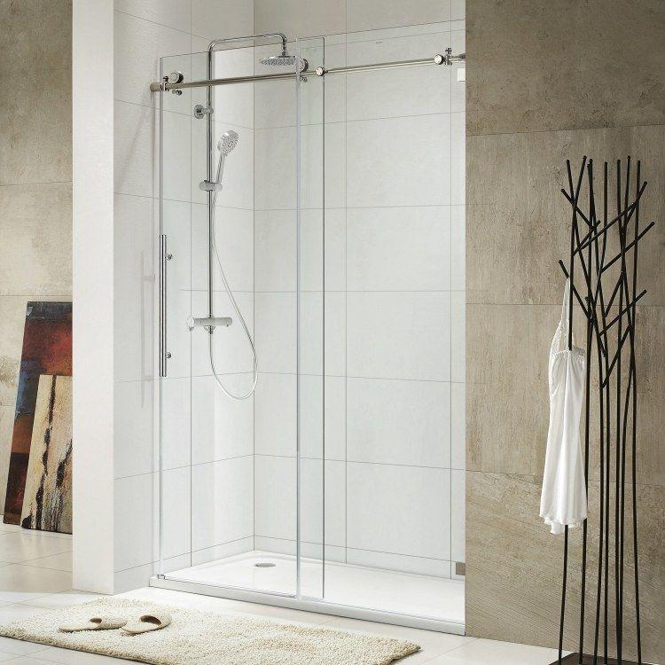 Duschabtrennung aus Glas mit Schiebetüren 4 moderne