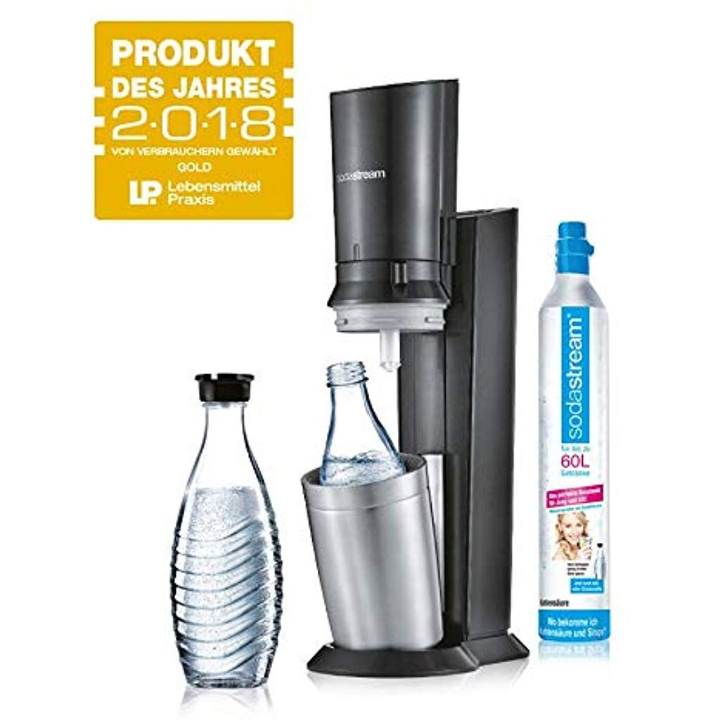 Sodastream Crystal 2 0 Wassersprudler Mit Co2 Zylinder Und 2x