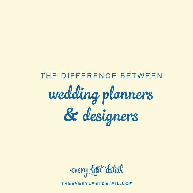 Story Wedding Planner Designer Coordinator Difference: The Difference Between Event Planners And Event Designers