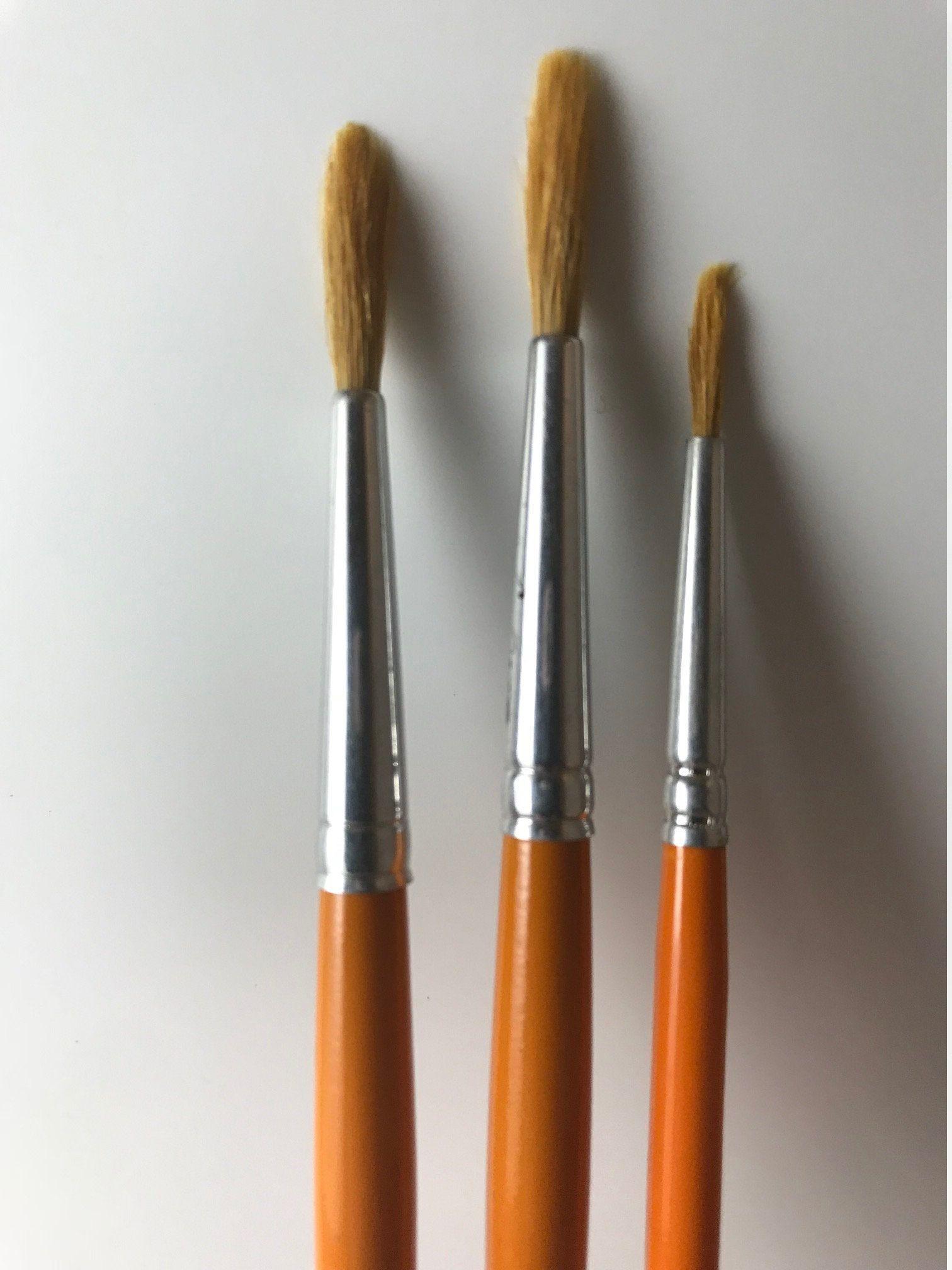 No Acrylix Brush Round 1 202 Short Handled