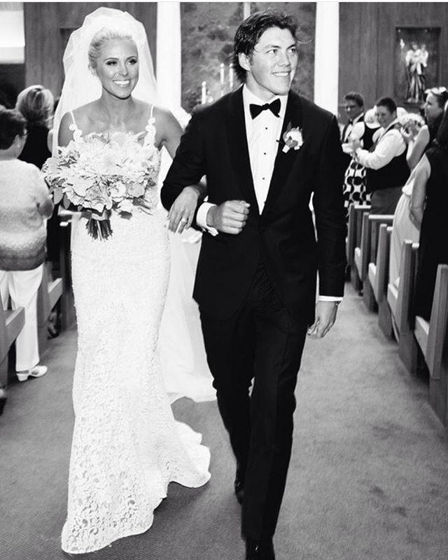 Lauren and tj oshie | Wedding | Wedding, Wedding dresses, Dresses