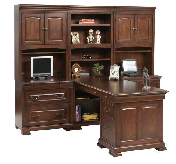 Classic Cherry Home Office Peninsula Desk 11448 Home Office